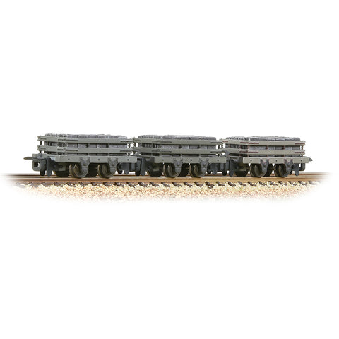 Bachmann 393-075 OO-9 Gauge 3 Pack Grey Slate Wagons w Loads