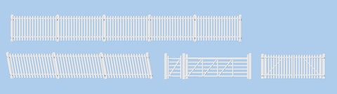 Ratio 420 OO Gauge GWR Station Fencing (White) incl Gates/Ramps