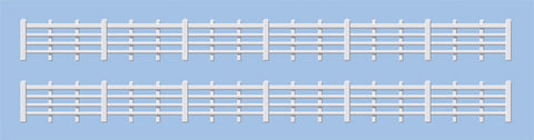 Ratio 424 OO Gauge Wood Lineside Fencing (White)