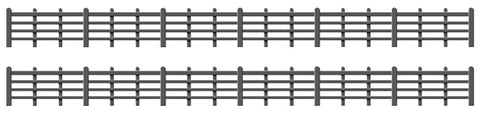 Ratio 425 OO Gauge Wood Lineside Fencing (Black)