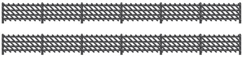 Ratio 427 OO Gauge LMS Station Fencing (Black)