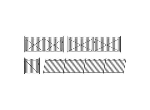 Ratio 435 OO Gauge GWR Spear Fencing/Ramps/Gates (Black)
