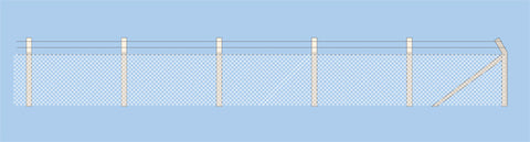 Ratio 436 OO Gauge Security Fencing