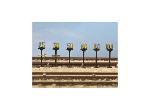 Modelscene 5050 OO Gauge Speed Restriction Signs