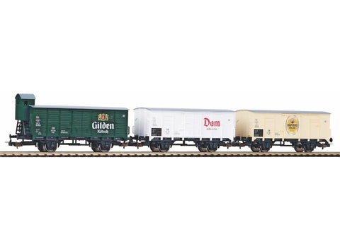 Piko 58372 HO Gauge Classic DB Kolsch Refrigerated Beer Wagon Set (3) III