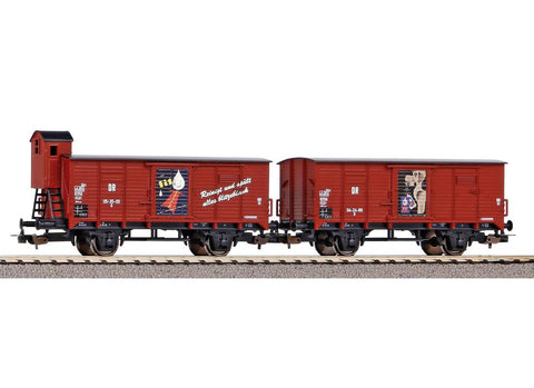Piko 58373 HO Gauge Classic DR Fit Box Wagon Set (2) III