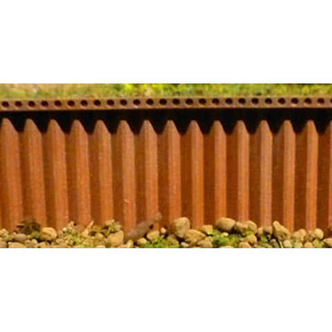 Chooch Enterprises 8514 N/HO/OO Gauge Flexible Steel Sea Wall (Medium)