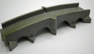 Ancorton 95624 N Gauge Road Bridge with 4 Arches Kit