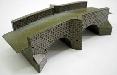Ancorton 95645 N Gauge Stone Double Arch Road Bridge Kit
