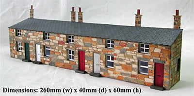 Ancorton 95865 OO Gauge Half Relief Terraced Cottages Kit