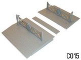 Dapol C015 OO Gauge Level Crossing Plastic Kit