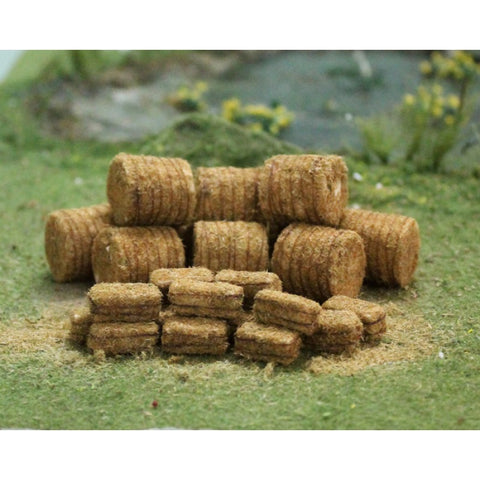 Tasma Products 00378 OO/HO Gauge Straw Bales (10 Round/20 Rectangle)