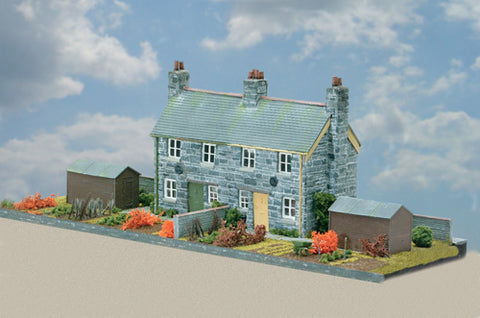 Wills CK21 OO Gauge Semi-Detached Stone Cottages Kit