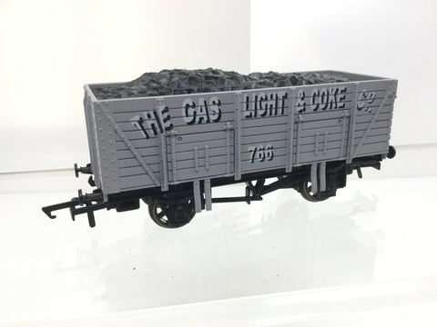 Dapol B637 OO Gauge 9 Plank Wagon Gas Light & Coke Co