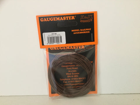 Gaugemaster GM11BN Wire (7x0.2mm) x10m Brown