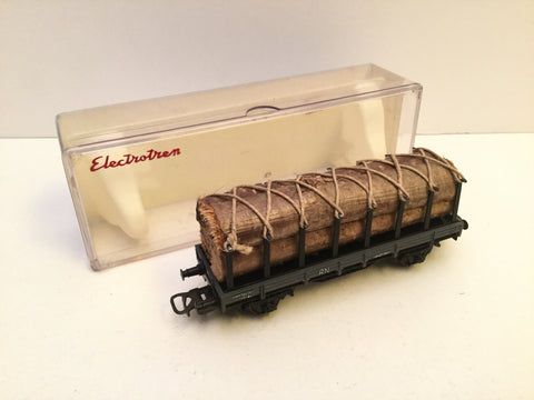 Electrotren 1005 HO Gauge RN Flat Wagon with Timber Load