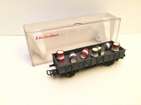 Electrotren 1105 HO Gauge RN Open Wagon with Barrel Load