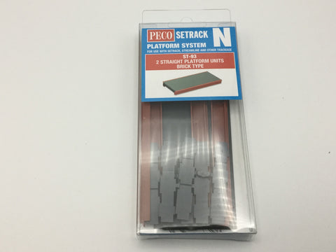 Peco ST-93 N Gauge Straight Platform Unit (Brick Type)