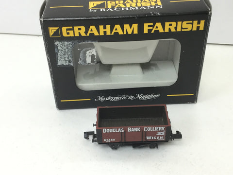 Graham Farish 373-183 N Gauge 6 Plank Wagon Douglas Bank Colliery