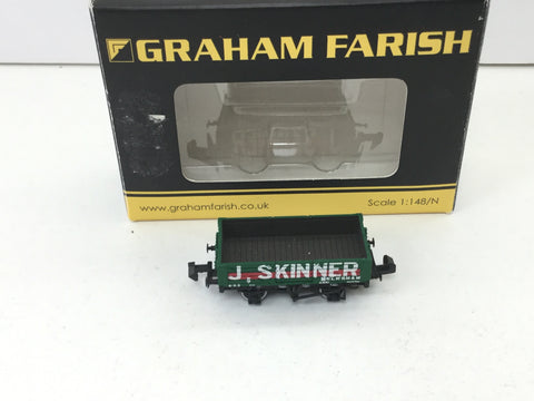 Graham Farish 377-055 N Gauge 5 Plank Wagon J Skinner
