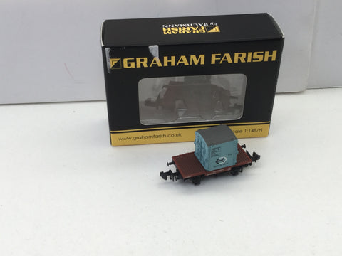 Graham Farish 377-326 N Gauge BR Conflat A Wagon AF Container