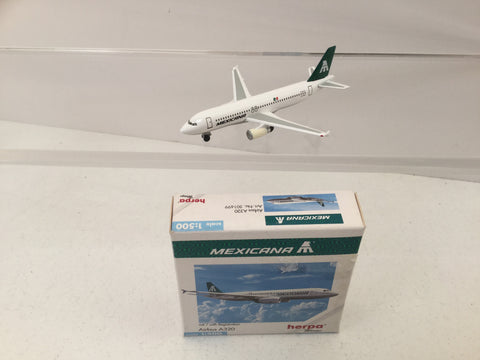 Herpa 501699 1:500 Scale Diecast Airbus A320 Mexicana