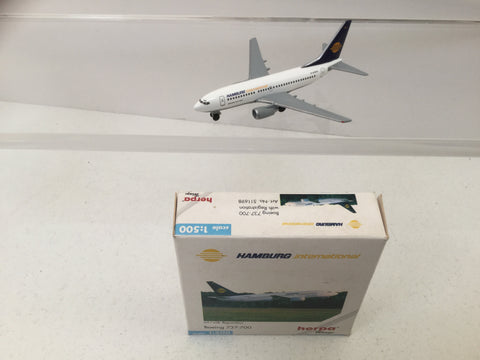 Herpa 511698 1:500 Scale Diecast Boeing 737-600 Hamburg International