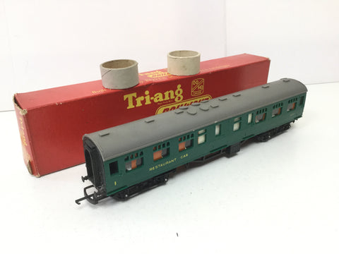 "Triang R229 OO Gauge BR Green 9"" Restaurant Car S1007"