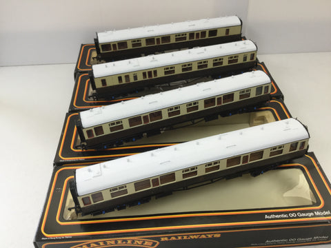 Mainline 937123/937124 OO Gauge GWR Collett Coaches x4