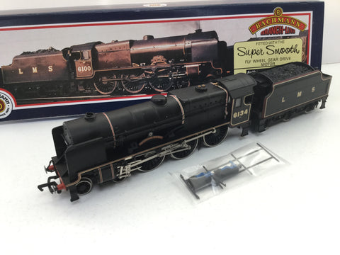 Bachmann 31-276 OO Gauge LMS Black Royal Scot 6134 Cheshire Regiment