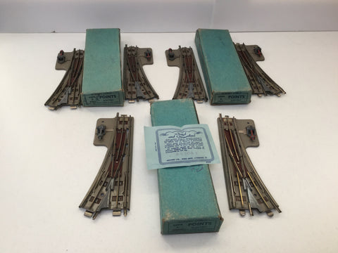 Hornby Dublo EDPL/EDPR OO Gauge 3 Rail Points (Light Blue Boxes)
