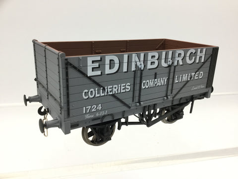 Dapol 7F-071-003 O Gauge 7 Plank Wagon Edinburgh Collieries Company