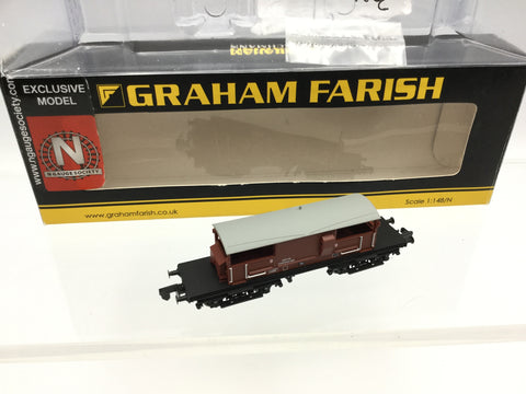 Graham Farish 377-876Z N Gauge BR Bauxite Queen Mary Brake Van