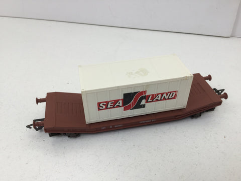 Airfix 54333 OO Gauge Lowmac Wagon/Sealand Container