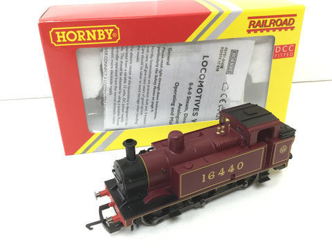Hornby R3297X OO Gauge LMS 0-6-0T Class 3F 16440 LMS Maroon - DCC Fitted