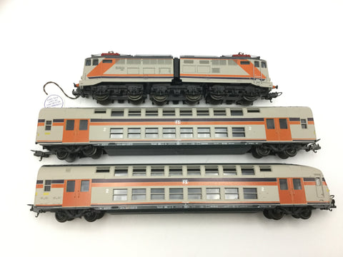 Lima 149804 HO Gauge FS Electric Loco & Double Decker Coaches Set