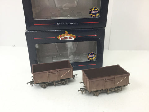 Bachmann 37-228 OO Gauge BR 16t Steel Mineral Wagon B69190 Factory Weathered x2