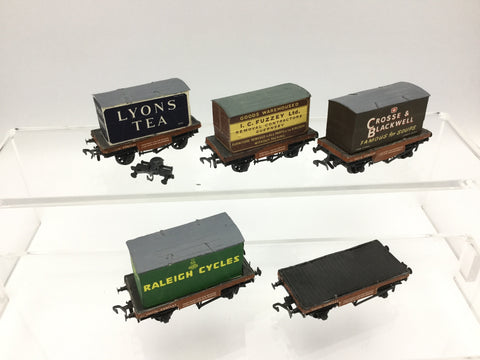 Peco OO Gauge Assorted Conflat Wagons w Containers x5