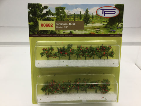 Tasma Products 00682 OO/HO Gauge Tomato Plants (Pack 16)
