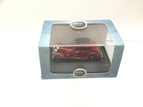Oxford Diecast 76JSS003 OO Gauge Jaguar SS 2.5 Saloon Red
