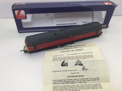 Lima 204959 OO Gauge Class 47 47712 Lady Diana Spencer Parcels Livery