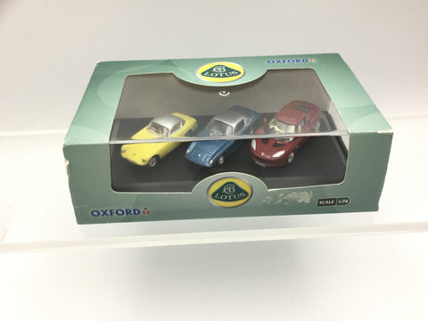 Oxford Diecast 76SET28 OO Gauge Lotus Set (3 Cars)