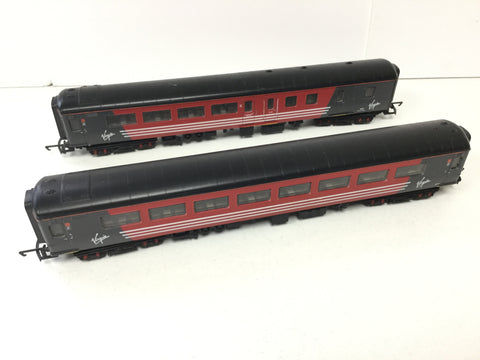 Hornby R1022 OO Gauge Mk 2 Coaches 6165/9531 Virgin Livery