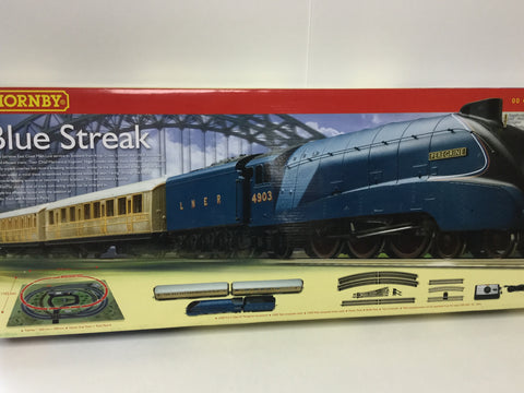 Hornby R1129 OO Gauge Blue Streak Train Set (No Track)