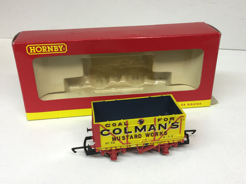 Hornby R6345A OO Gauge End Tipping Wagon Colmans 34