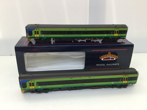 Bachmann 31-516 OO Gauge Central Trains Class 158 2 Car DMU