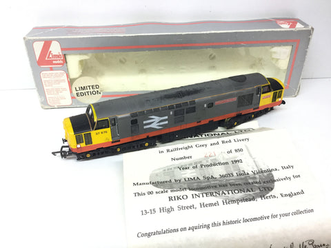Lima 205208 OO Gauge Railfreight Class 37 No 37675 William Cookworthy (Weathered)