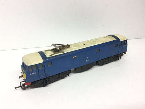 Triang R753 OO Gauge BR Class 81 E3001 BR Blue/White Cab Rooves