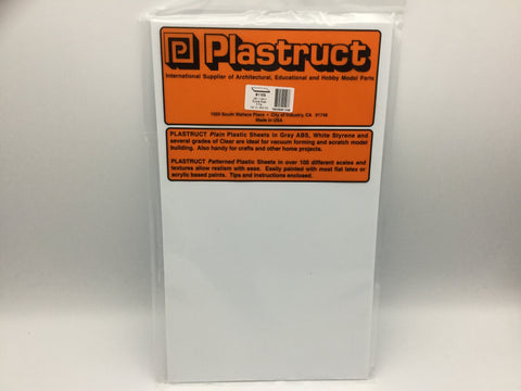 Plastruct 91103 (SSS-103P) 0.75mm Styrene Sheet White 300x175mm 5pc