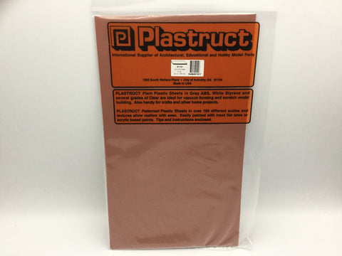 Plastruct 91151 (SSS-203P) 0.5mm Styrene Sheet Red 300x175mm 2pc